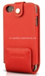 Кожаный чехол для iPhone 4/4S BeyzaCases Multi Flip Case, цвет red (BZ19267)