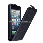 Кожаный чехол для iPhone 5 / 5S Beyza MF-Series Flip, цвет Sadle Black (BZ25459)