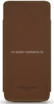 Кожаный чехол для iPhone 5 / 5S BeyzaCases Aston Martin Slim TP, цвет tan (AM23530)