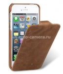 Кожаный чехол для iPhone 5 / 5S Melkco Craft Limited Edition (Prime Dotta), цвет brown
