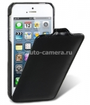 Кожаный чехол для iPhone 5 / 5S Melkco Premium Leather Case - Jacka Type, цвет Vintage Black