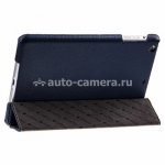 Кожаный чехол для Pad mini / iPad mini 2 (retina) Melkco Slimme Cover Type, цвет Dark Blue LC