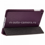 Кожаный чехол для Pad mini / iPad mini 2 (retina) Melkco Slimme Cover Type, цвет Purple LC