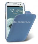 Кожаный чехол для Samsung Galaxy S3 (i9300) Melkco Premium Leather Case, цвет Dark Blue LC