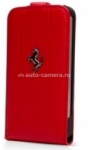 Кожаный чехол для Samsung Galaxy S4 Mini Ferrari Flip FF-Collection, цвет Red (FEFFFLS4MRE)