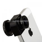 объективы Объектив для iPhone 5 / 5S Photo lens 3-in-one 2x angle, цвет объектива черный