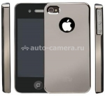 Пластиковый чехол для iPhone 4/4S iCover Mirror Dark Silver (IP4-MT-DS)