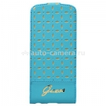 Чехол для iPhone 6 Guess Gianina Flip, цвет Turquoise (GUFLP6PET)