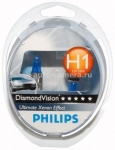 Галогенные лампы Philips H1 12v 55w Diamond Vision 12258DVS2 2 шт.