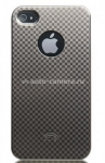 Пластиковый чехол для iPhone 4/4S iCover High Glossy, цвет Check Pattern Dark Silver (IP4-HG-CH/DS)