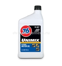 Масло 76 Unimix 2-Cycle Oil 075731237261, 0.946л