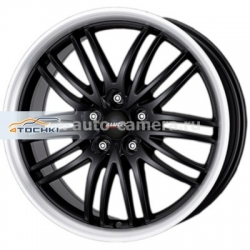 Диск Alutec 8,5x18 5x112 ET40 D70,1 BlackSun Racing Black Lip Polished