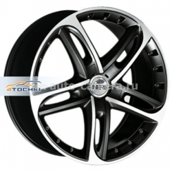 Диск Antera 8,5x19 5x114,3 ET32 D75 501 Racing black front polished