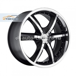 Диск Antera 9,5x20 6x139,7 ET12 D106,1 389 Racing Black Lip Polished