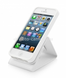 Чехол для iPhone 5 / 5S Capdase Folder Case Upper Classic, цвет white (FCIH5-UC22)