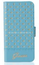 Чехол для iPhone 5 / 5S GUESS GIANINA Booktype, цвет turquoise (GUFLBKP5PET)