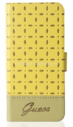 Чехол для iPhone 5 / 5S GUESS GIANINA Booktype, цвет yellow (GUFLBKP5PEY)