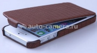 Чехол для iPhone 5 / 5S SAYOO Small Croco, цвет brown