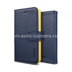 Чехол для iPhone 5 / 5S SGP Leather Case illuzion Series, цвет lemon indigo (SGP09528)