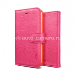 Чехол для iPhone 5 / 5S SGP Leather Case illuzion Series, цвет mandarine rosa (SGP09530)
