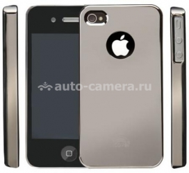 Чехол для iPod touch 4G iCover Mirror, цвет Dark/Silver (IT4-MT/DS)