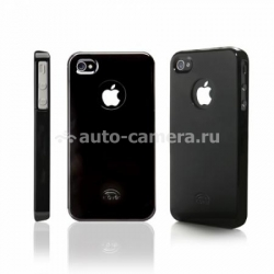Чехол для iPod touch 4G iCover Rubber, цвет Black (IT4-DER-CC/BK)