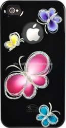 Чехол для Samsung Galaxy S3 iCover Cute Butterfly, цвет Black/Pink(GS3-HP/BK-TB/P)