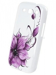 Чехол для Samsung Galaxy S3 iCover Flower, цвет purple (GS3-HP-FB/PP)