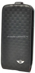 Чехол для Samsung Galaxy S3 Mini Flip PU Leather Chequered, цвет Black (MNFLS3SQBL)