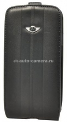 Чехол для Samsung Galaxy S3 Mini Flip Spleat Leather Stripes, цвет Black (MNFLS3STBL)