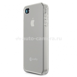 Чехол на заднюю крышку для iPhone 4 и 4S Macally Flexible protective case, цвет clear (FLEXFITC-P4S) (FLEXFITC-P4S)
