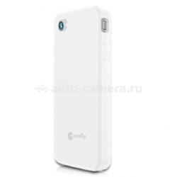 Чехол на заднюю крышку для iPhone 4 и 4S Macally Flexible protective case, цвет white (FLEXFITW-P4S) (FLEXFITW-P4S)