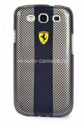 Чехол на заднюю крышку для Samsung Galaxy S3 (i9300) Ferrari Hard Carbon, цвет Grey/Black (FECBS3BL)