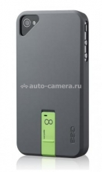 Чехол на заднюю крышку iPhone 4 и 4S Ego Hybrid Body 4GB, цвет gray/green (HSU1EK004)