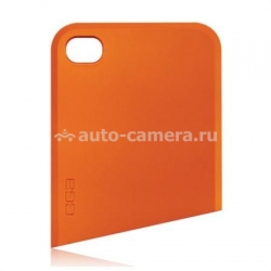Чехол на заднюю крышку iPhone 4 и 4S Ego Slide Case Upper, цвет orange (CST1PK004)