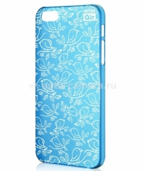 Чехол на заднюю крышку iPhone 5 / 5S Artske Air Case, цвет light blue birds (AC-LB3-IP5)