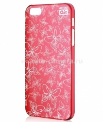 Чехол на заднюю крышку iPhone 5 / 5S Artske Air Case, цвет red butterfly (AC-RD4-IP5)