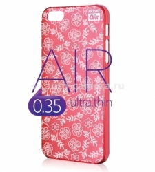 Чехол на заднюю крышку iPhone 5 / 5S Artske Air Case, цвет red flower (AC-RD2-IP5)