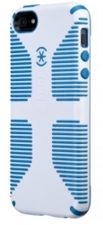 Чехол на заднюю крышку iPhone 5 / 5S Speck CandyShell Grip, цвет White/Harbor Blue (SPK-A0484)