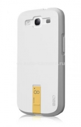 Чехол на заднюю крышку Samsung Galaxy S3 (i9300) Ego Hybrid Body 8GB, цвет white/yellow (HSU1S3003)