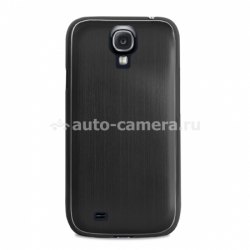 Чехол на заднюю крышку Samsung Galaxy S4 (i9500) PURO Metal Cover, цвет black (SGS4METALBLK)