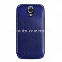 Чехол на заднюю крышку Samsung Galaxy S4 (i9500) PURO Metal Cover, цвет blue (SGS4METALBLUE)