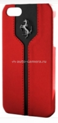 Чехол-накладка для iPhone 5 / 5S Ferrari Montecarlo Hard, цвет Red FEMTHCP5RE