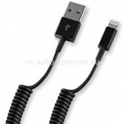Дата-кабель для iPhone 5 / 5S / 5C, iPad 4, iPad mini, iPod Touch 5, iPod Nano 7 Deppa USB – Lightning, цвет black