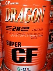 Масло Dragon 10W-30 SUPER DIESEL CF-4\SG DCF10W30_20, 20л