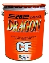 Масло Dragon 5W-30 SUPER DIESEL CF-4\SG DCF5W30_20, 20л