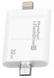 Флешка для iPhone, iPod, Samsung и HTC HyperDrive i-Flashdrive А 32Gb, цвет White (IFD08A32GB)