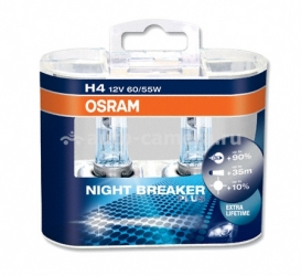 Галогенная лампа Osram H4 12v 60/55w Night Breaker Plus +90% 64193NBP