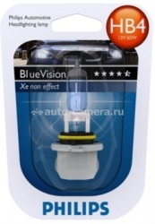 Галогенная лампа Philips HB4 12v 55w Blue Vision Ultra 9006BVUB1 1 шт.