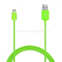 Кабель для iPhone 5 / 5S / 5C, iPad 4 и iPad mini PURO 1mt 2.1A W/LIGHTNING CONNECTOR, цвет зеленый (CAPLT1)
